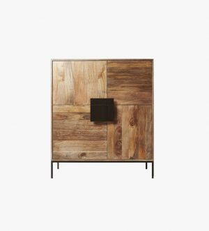 Wood Rough Textured Cabinet