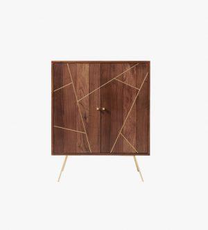 Mosaic Wood Cupboard